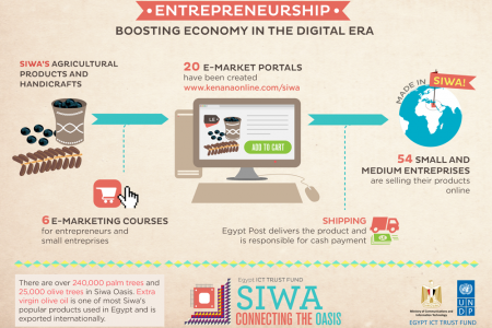 Boosting economy in the digital era / ICT4D in Siwa Infographic