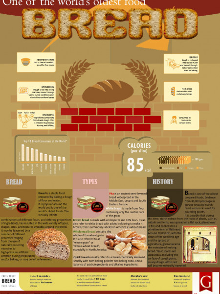 Bread - one of world's oldest food Infographic