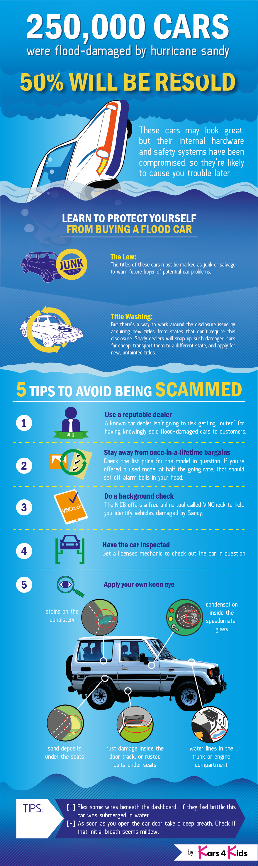 Protect Yourself From Buying A Flood Car [Infographic]