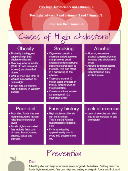 Cholesterol levels in the UK 2012 & how to protect yourself. Infographic