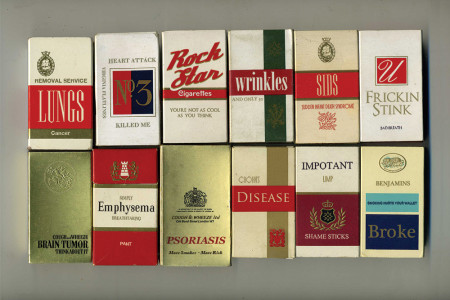 Cigarette packages with something to say  Infographic
