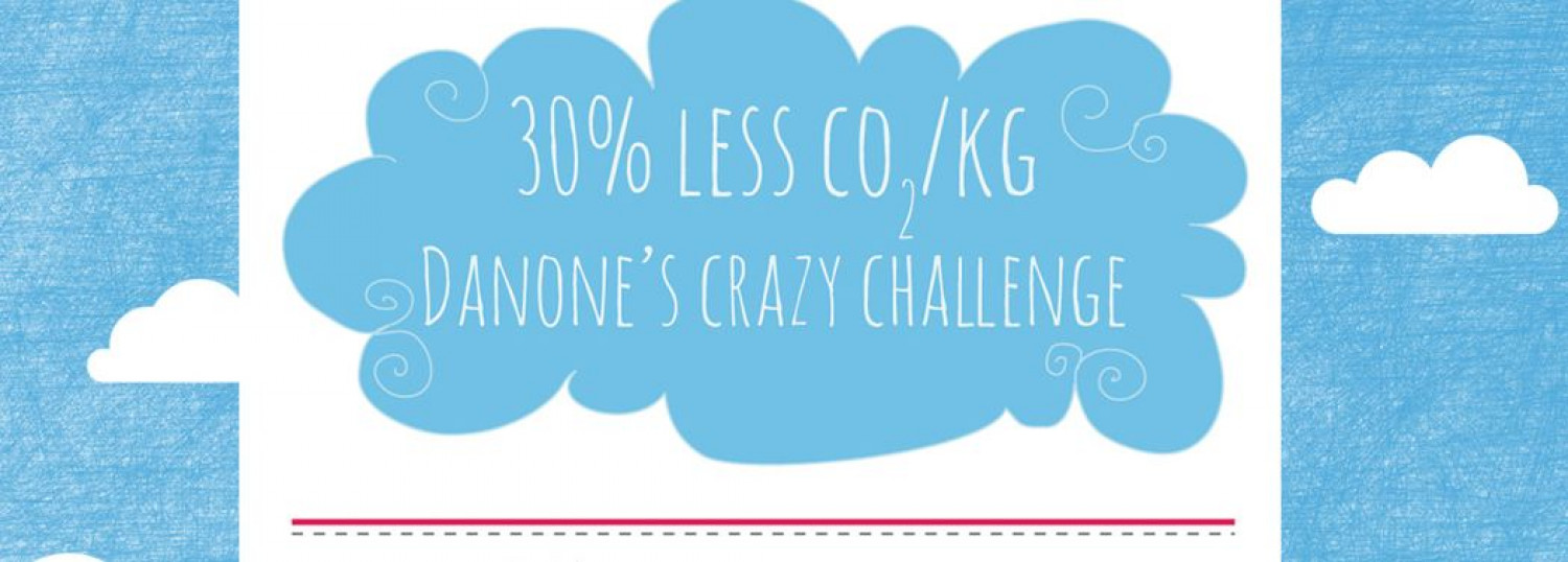 Danone's crazy challenge: 30% less CO2 over 4 years! Infographic