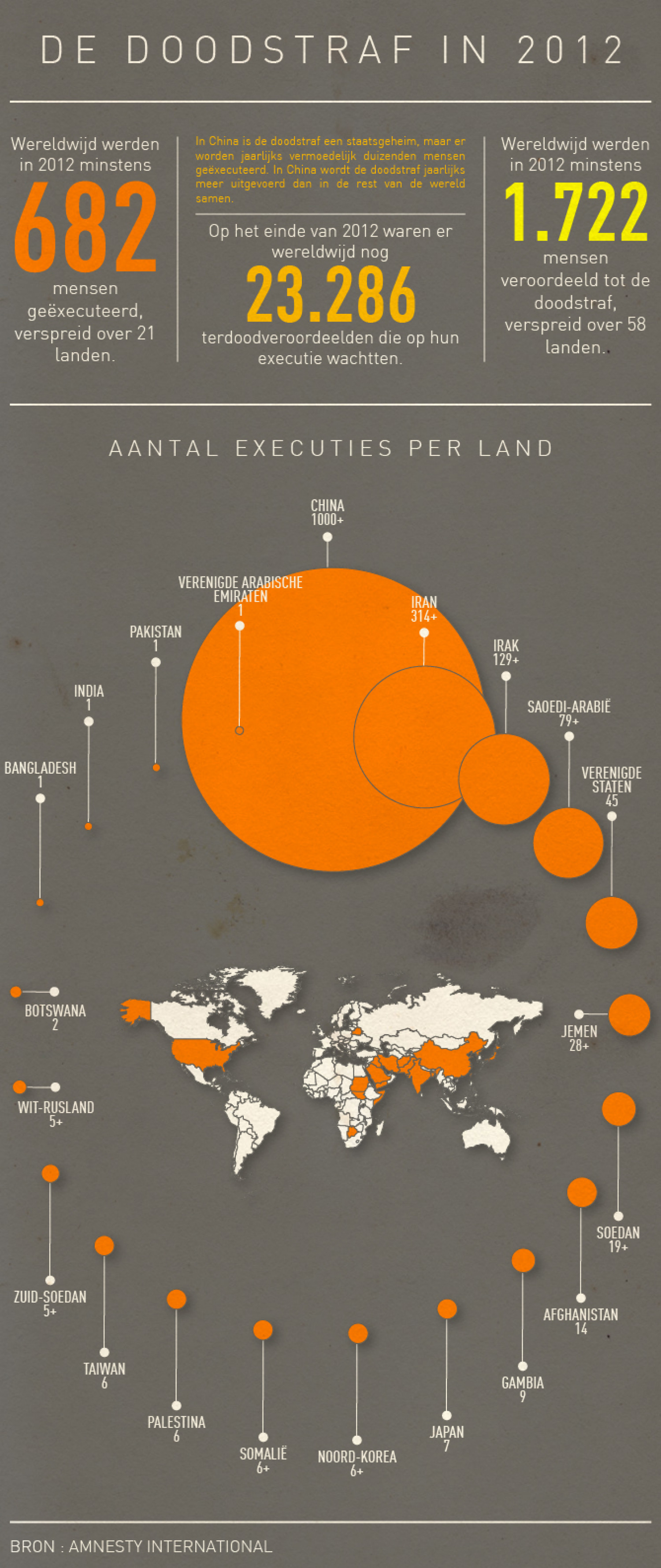 Death penalty in 2012 Infographic