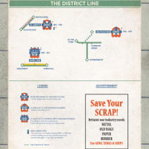 District Line: Abandoned/Ghost Station on the London Underground Infographic