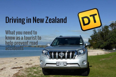 Driving in New Zealand - Advice for Tourists Infographic