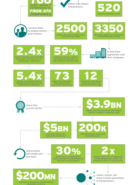 Endeavor By the Numbers Infographic