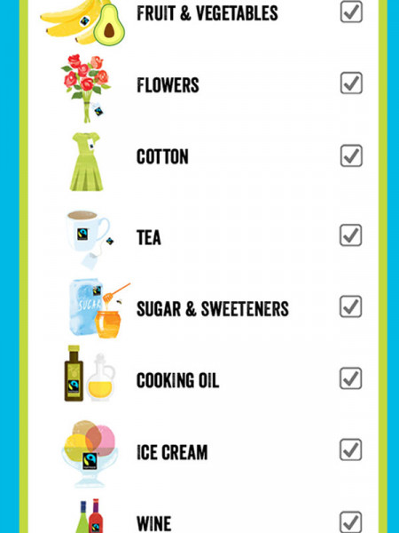 Fairtrade Shopping List Infographic
