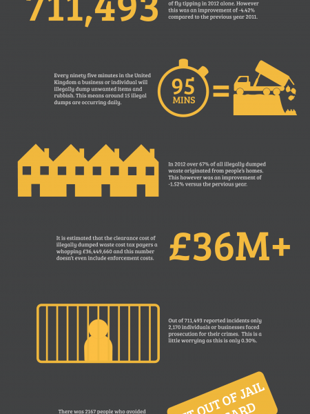 Fly Tipping 2012-2013 Infographic