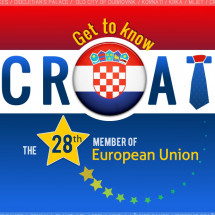 Get to know Croatia - the 28th member of the European Union Infographic