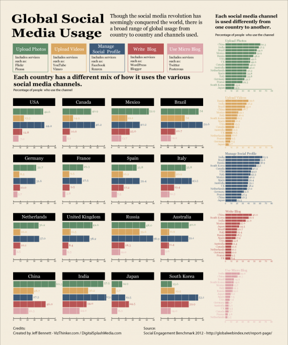 Global Social Media Usage Infographic