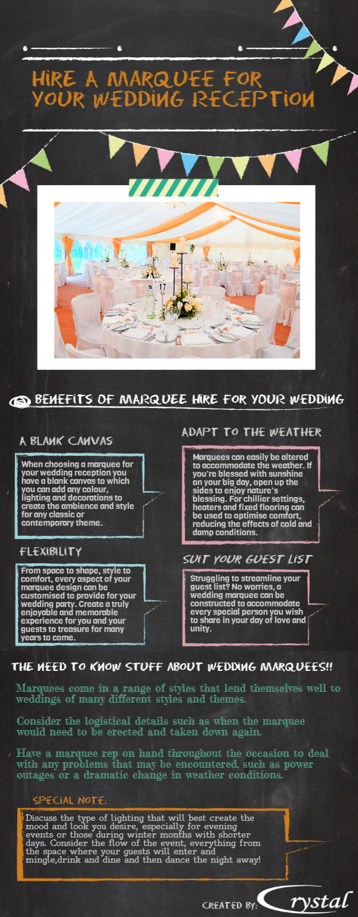 HIRE A MARQUEE FOR YOUR WEDDING RECEPTION Infographic