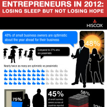 Hiscox Small Business Survey  DNA of an Entrepreneur 2012 Infographic