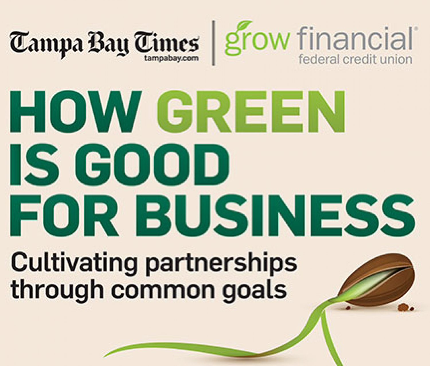 How Green is Good for Business: Cultivating Partnerships through Common Goals Infographic