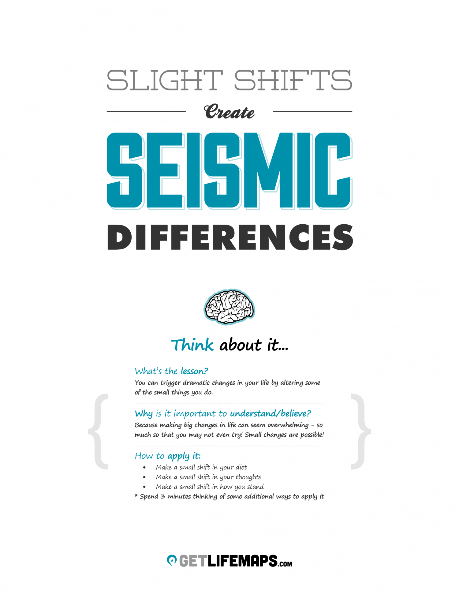 How To Create BIG, Positive Results In Your Life Through Small Changes Infographic