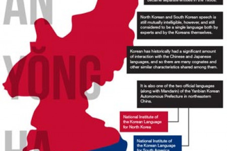Korean Language Infographic Infographic