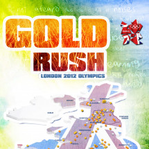 London 2012 Olympics Team GB Gold Rush Infographic Infographic