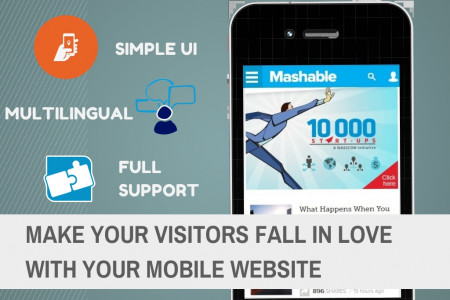 Make Visitors Fall in Love with Your Mobile Website Infographic
