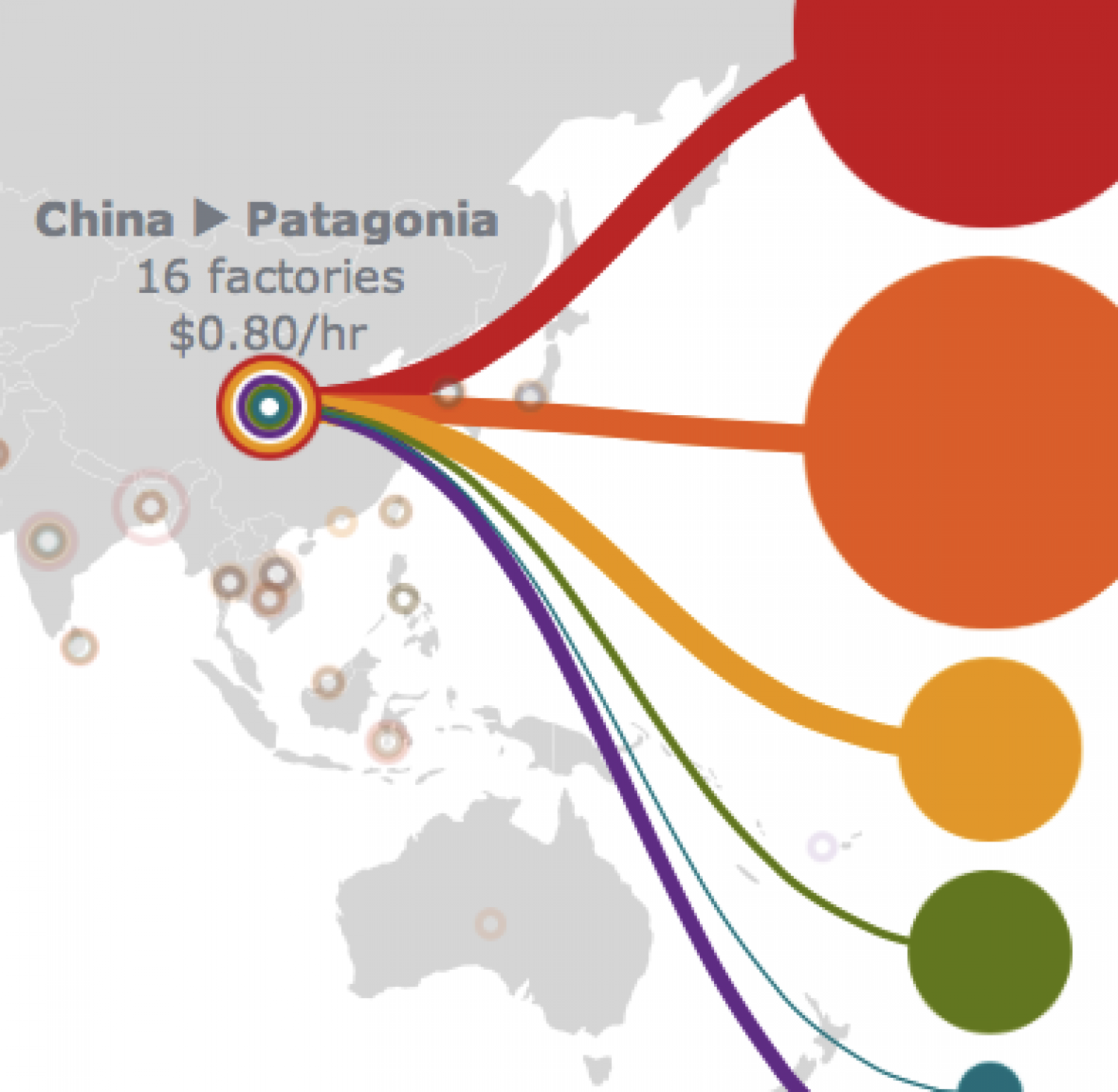Mapping the Garment Factories Infographic