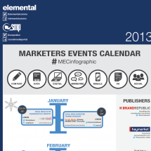 Marketers Events Calendar infographic Infographic