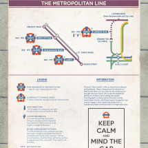 Metropolitan Line: Abandoned/Ghost Station on the London Underground Infographic