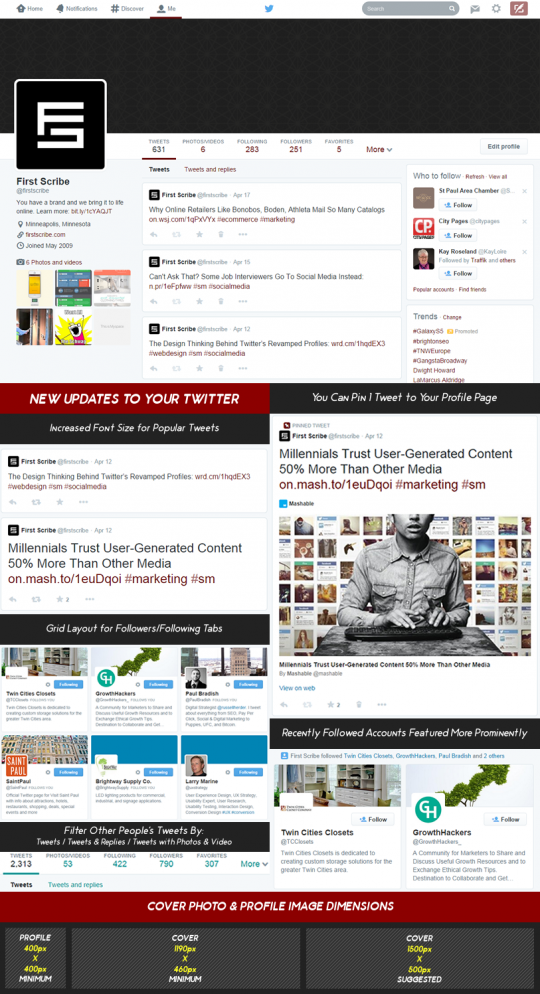 New Twitter Layout Infographic