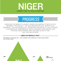 Niger's achievement in child survival Infographic