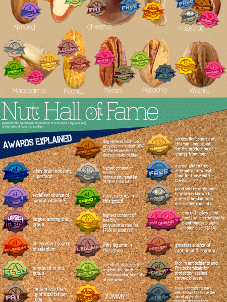Nut Hall of Fame Infographic