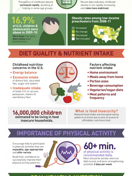 Nutrition Guidance for Healthy Children Ages 2 to 11 Years Infographic