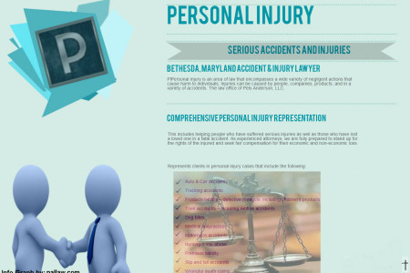 Personal Injury Law information Infographic