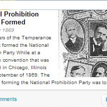 Prohibition Timeline Infographic
