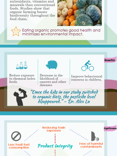 Reasons to Eat Organic Foods Infographic