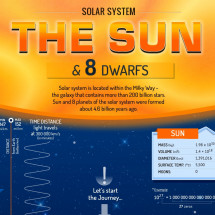 Solar system - The Sun and 8 planets Infographic