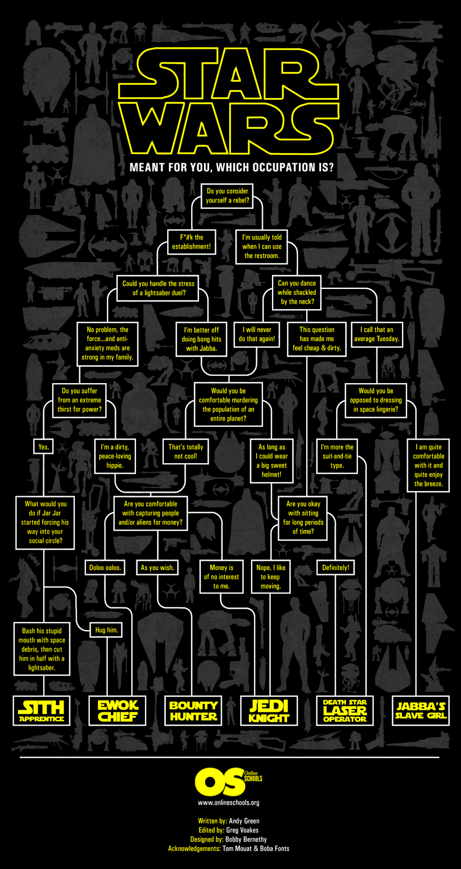 Star Wars Occupation Flow Chart Infographic