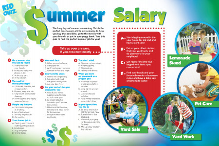 Summer Salary Kid Quiz Infographic