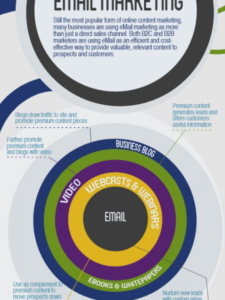 The 5 Core Elements of Online Content Marketing Infographic