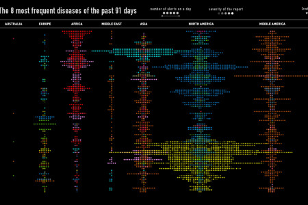The 8 most frequent diseases of the past 91 days Infographic