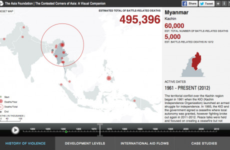 The Contested Corners of Asia: An Interactive Visualization of Subnational Conflict