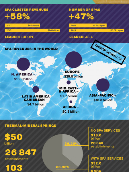 The Global Thermal/Mineral Springs Economy Infographic