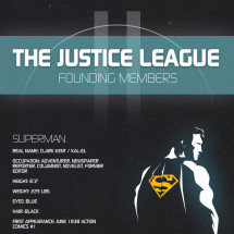 The Justice League Founding Members Infographic