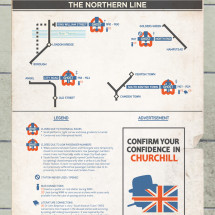 The Northern Line: Abandoned/Ghost Station on the London Underground Infographic