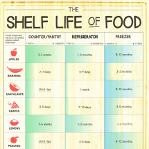 The Shelf Life of Food Infographic