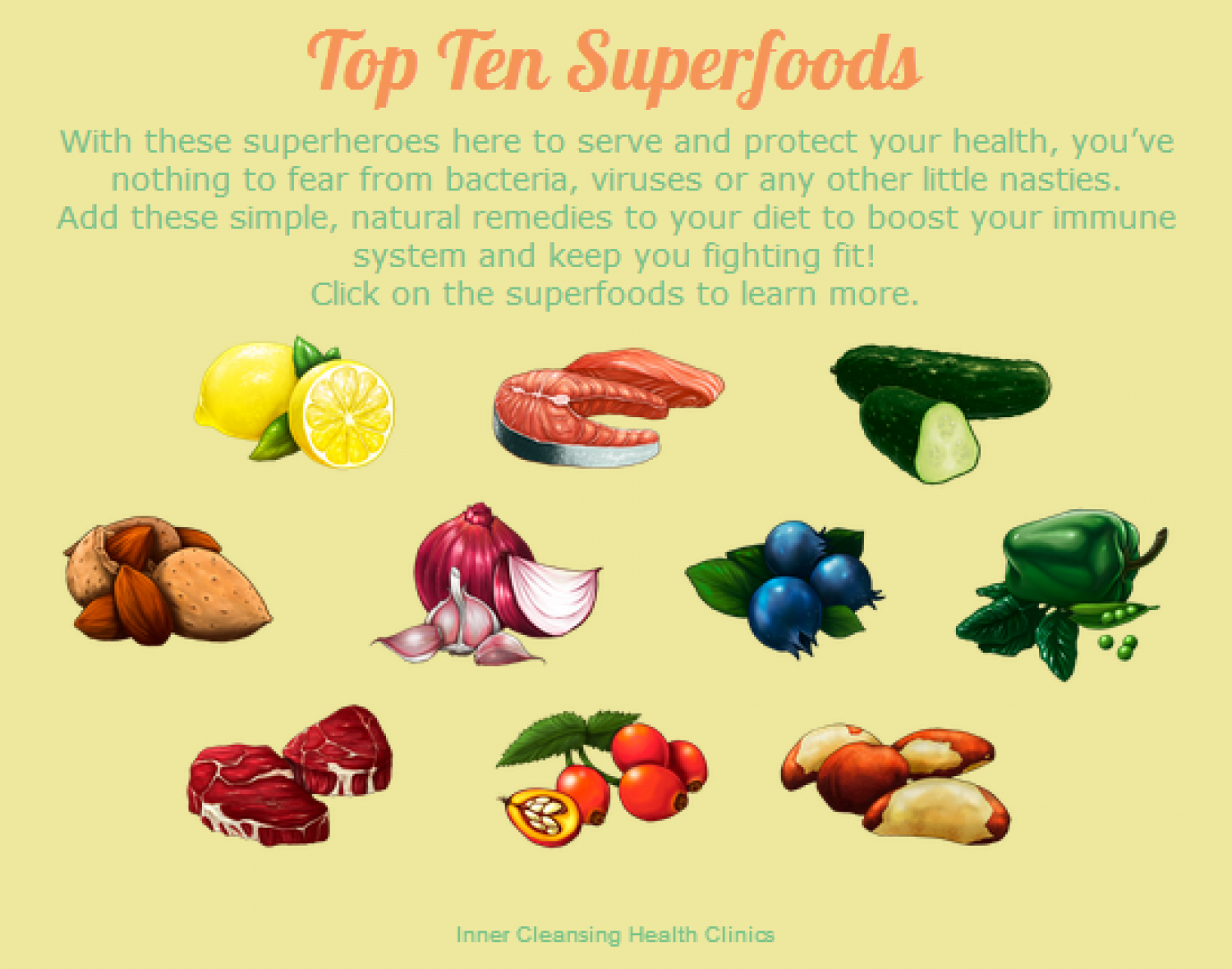 Top Ten Superfoods Infographic