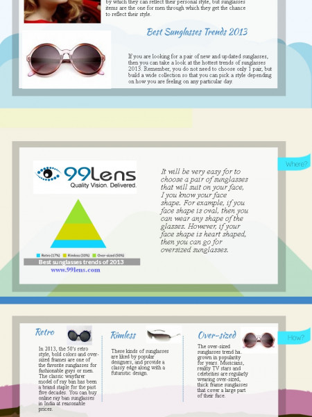 Top Three Best Sunglasses Trends 2013 for Men Infographic