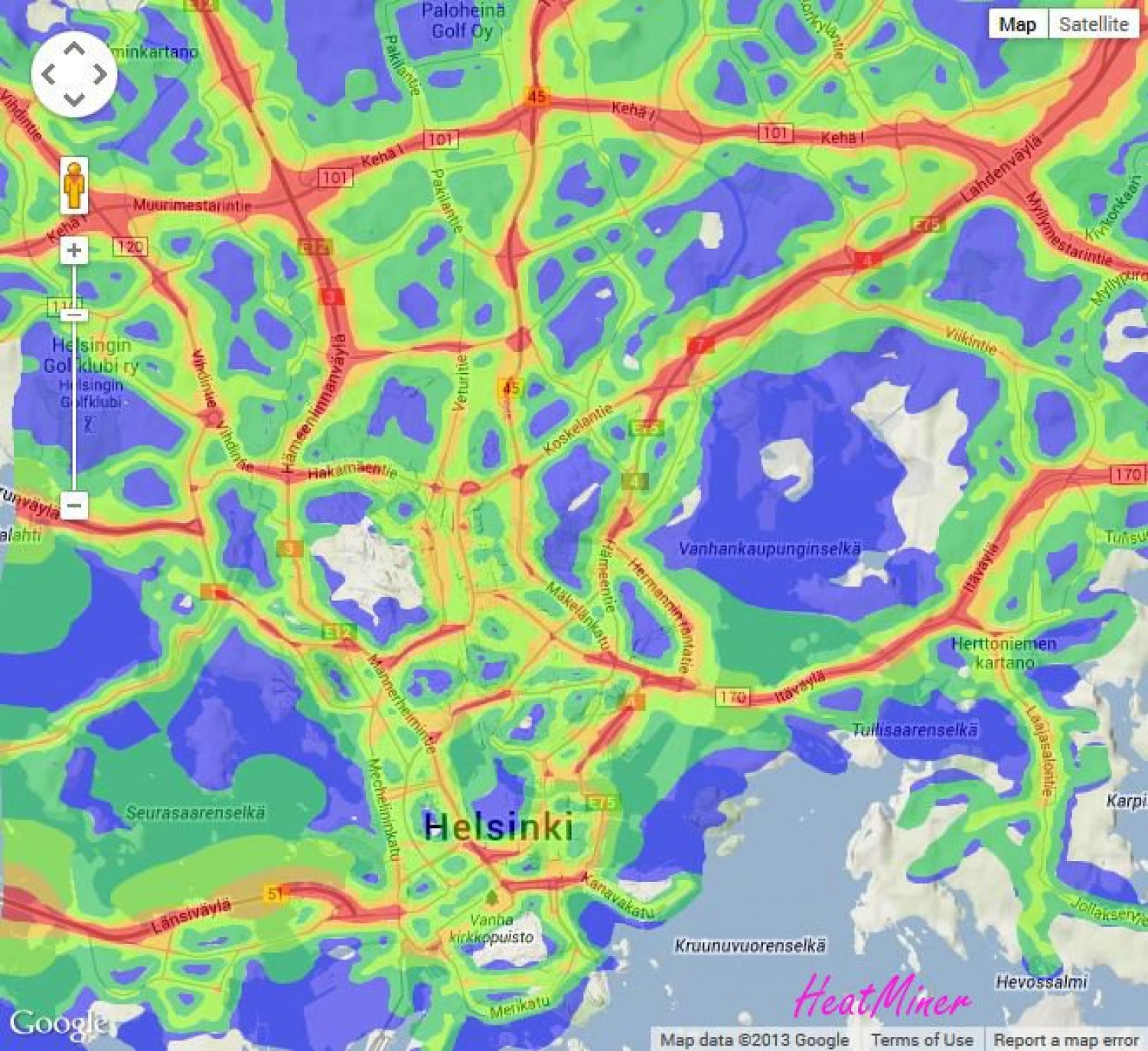 Traffic Noise in Helsinki Infographic