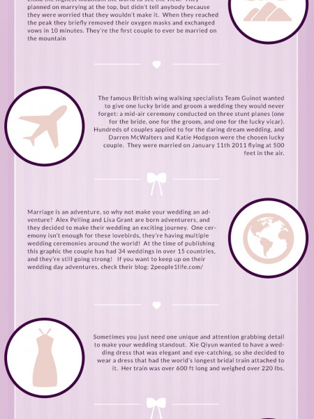 Truly Unique Weddings Infographic