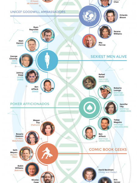 Well-Connected Celebrities: The Official Map Infographic