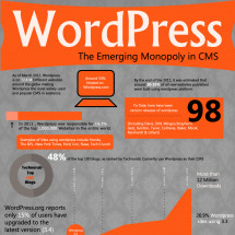 WordPress the Emerging Monopoly in CMS Infographic