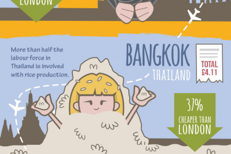 The Price of a Balanced Diet Around the World Infographic