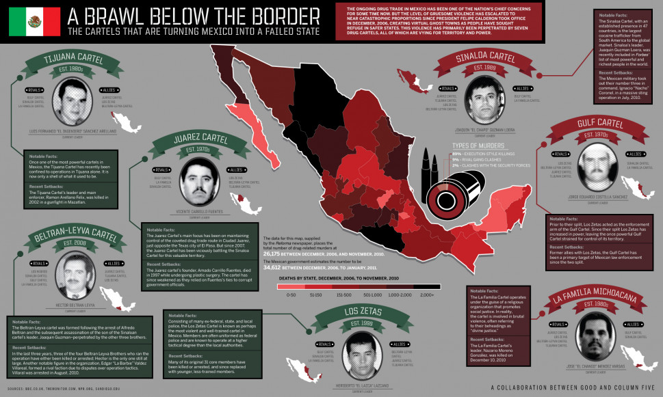 A Brawl Below the Border Infographic