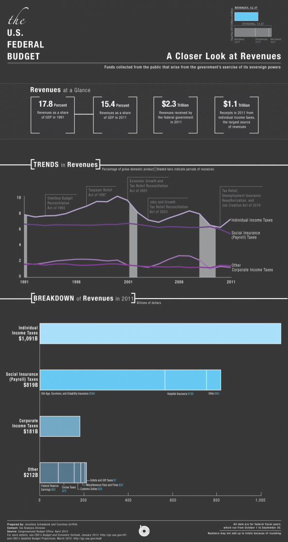 A Closer Look at US Revenues Infographic